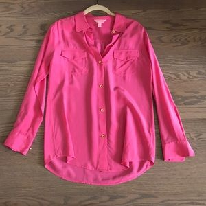 Lilly Pulitzer Silk Button Down